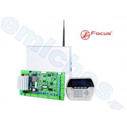 FC-7664 κεντρική μονάδα της FOCUS ενσύρματος και ασύρματος επαγγελματικός συναγερμός σύστημα ασφαλείας με 64 ζώνες και PSTN επικοινωνία