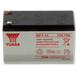 NP7-12 Yuasa επαναφορτιζόμενη μπαταρία μολύβδου VRLA 12Volt 7Ah με μεγάλη διάρκεια ζωής για συστήματα ασφαλείας συναγερμούς