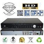 DMD918604 της Diamond Επαγγελματικό Οικονομικό Καταγραφικό 4 καμερών της Diamond 4CH καναλιών DVR CCTV HD 720P 960H HDMI Hexaplex με 2 Hard Disk εως 8TB Η264 Δικτυακο για περιμετρικη προστασια και ασφαλεια