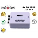 AV TO HDMI CONV1 της Pro.fi.con composite converter σε Hdmi 1080p plug and play μετατροπέας σήματος αναλογικό σε ψηφιακό